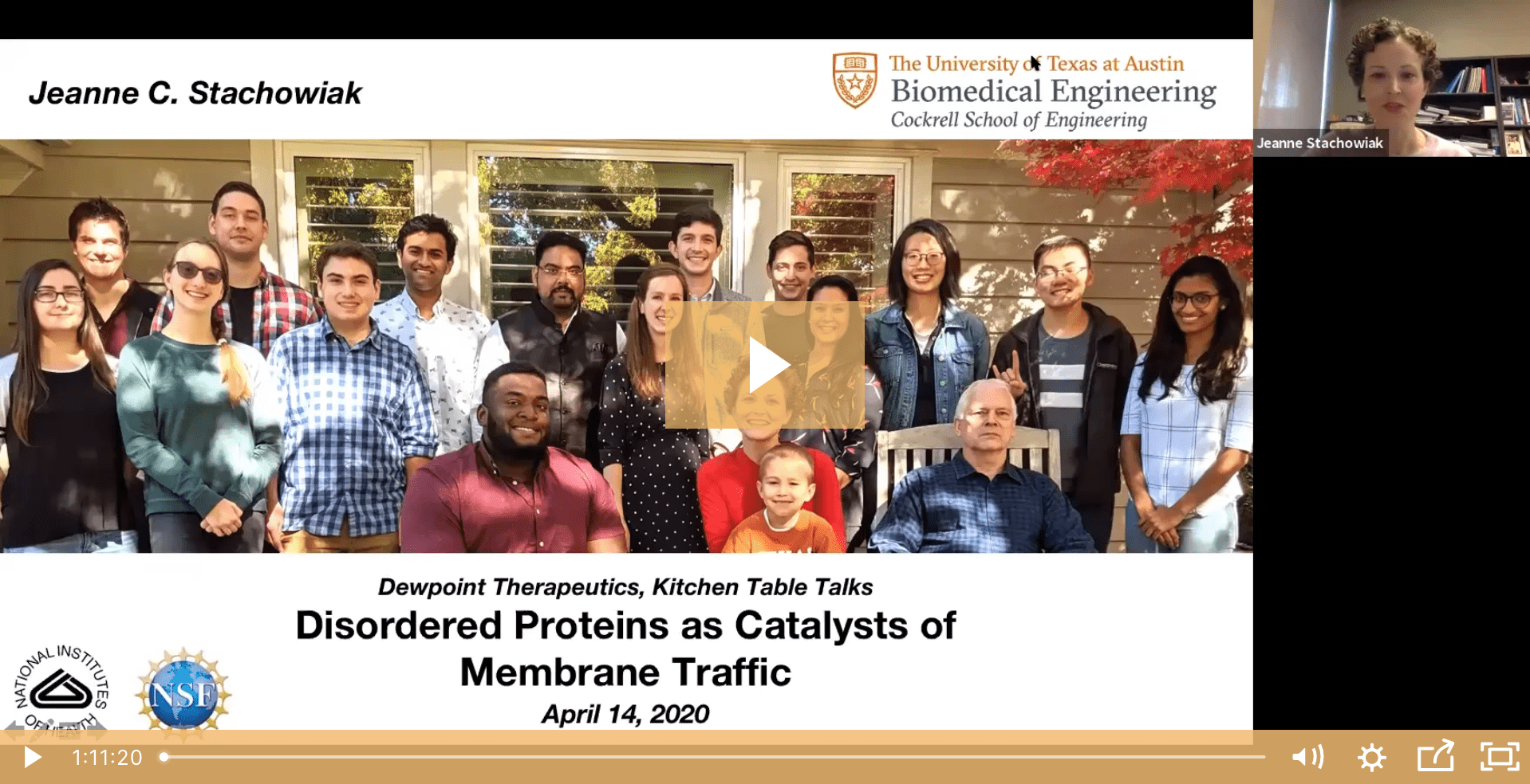 Jeanne Stachowiak on Disordered Proteins and Membrane Traffic